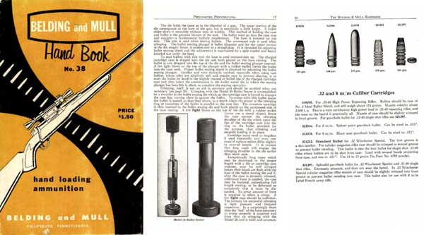 Belding & Mull 1959 Handbook of Reloading Tools and Supplies