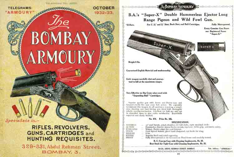 Bombay Armoury 1932-33 Season Catalogue (India)