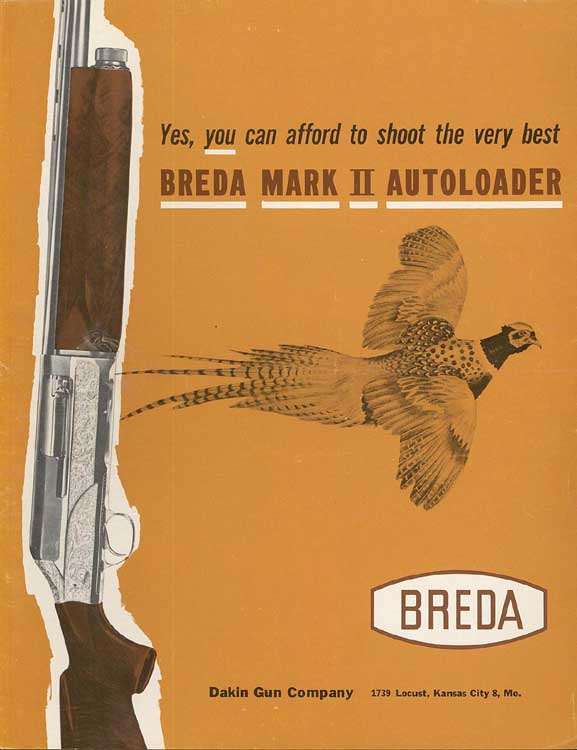 Breda Firearms Catalog and Price List 1962