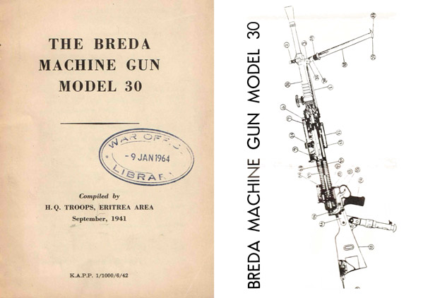 Breda 1941 Machine Gun Model 30 (UK) Manual