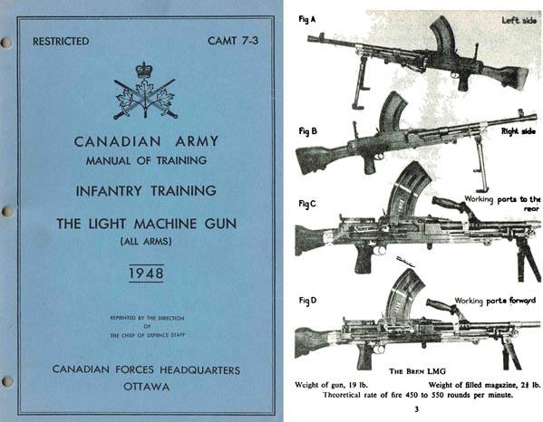 Bren 1948 Light Machine Gun Training Manual (Canadian)