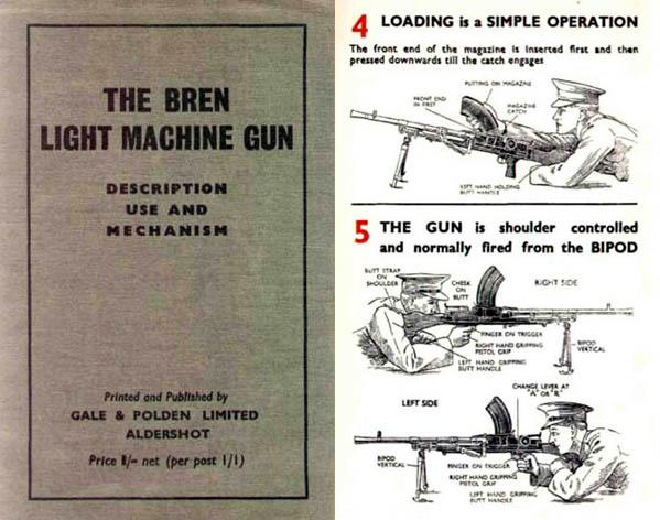 Bren 1940c .303 Light Machine Gun- Description & Use (UK) -Manual