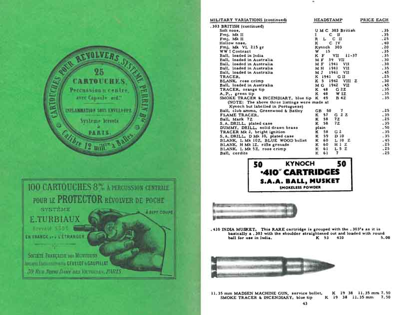 Brickell's, Jack 1962 Gun & Ammo Collector's Catalog