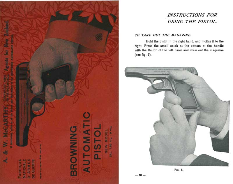 Browning c1913 FN New Model Automatic Pistol Catalog-Manual