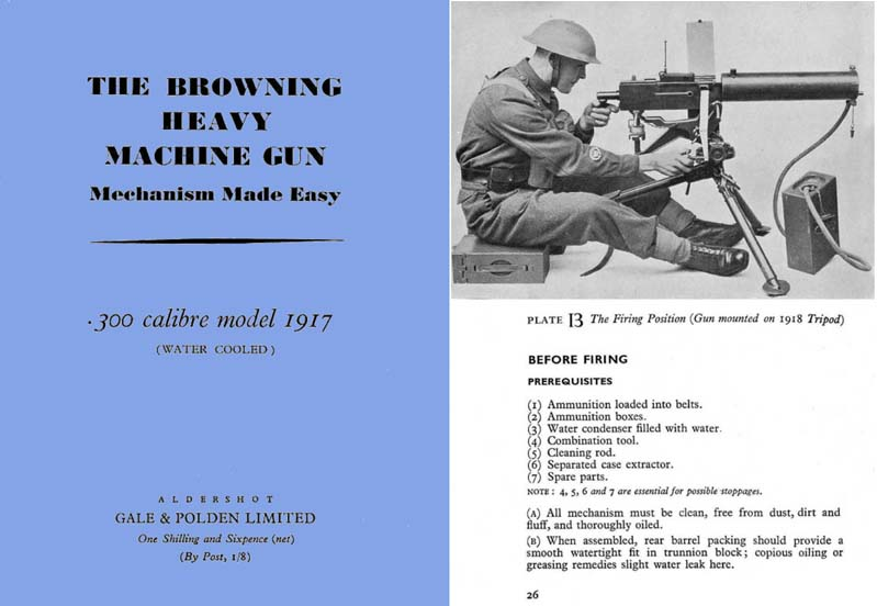 Browning c1942 Heavy Machine Gun M1917 Manual (UK)