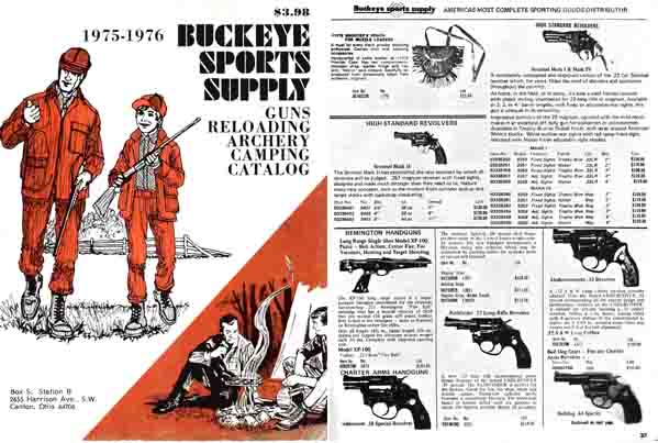 Buckeye Sports 1975-6 Catalog, Canton, OH