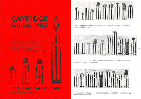 Cartridge Guide 1969 for Collectors (Sporting Goods GMBH)