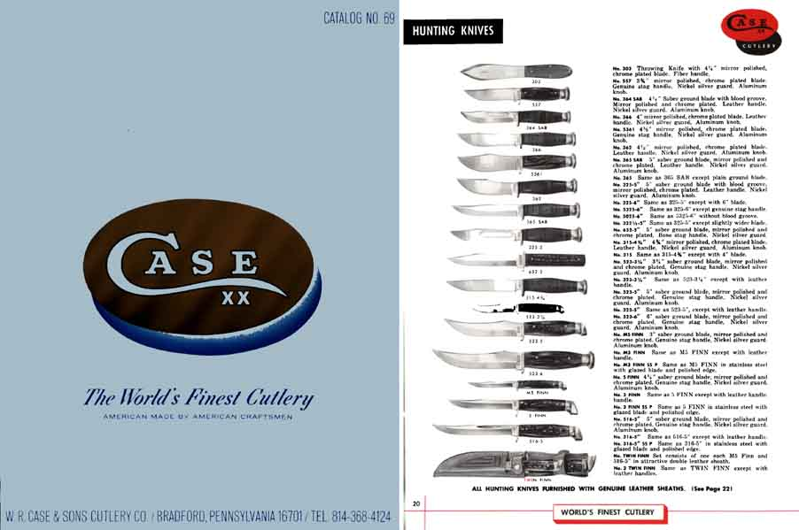 Case 1966 Knife Catalog Bradford, Pennsylvania