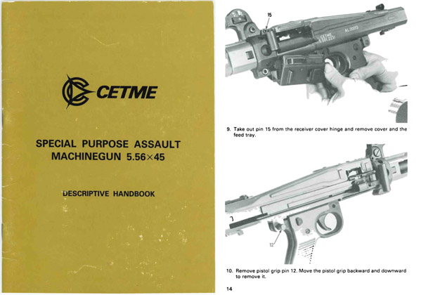 Cetme Special Purpose Assault Machine Gun 5.56 x 45 Handbook- Manual