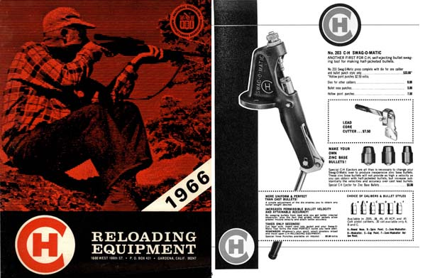C-H Die 1966 Reloading Equipment Catalog