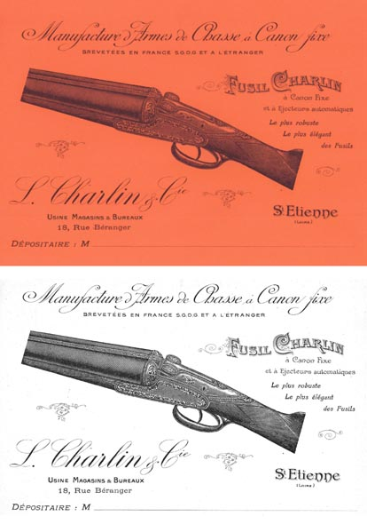 Charlin 1922 Armes de Chasse