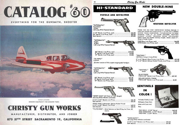 Christy Gun Works 1960 Gun Catalog