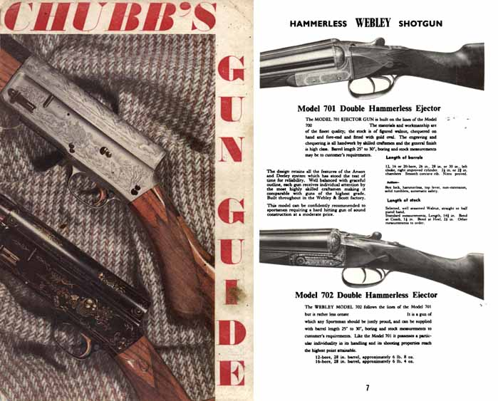 Chubb's 1966-67 Gun Guide, Edgware, Mddx, UK