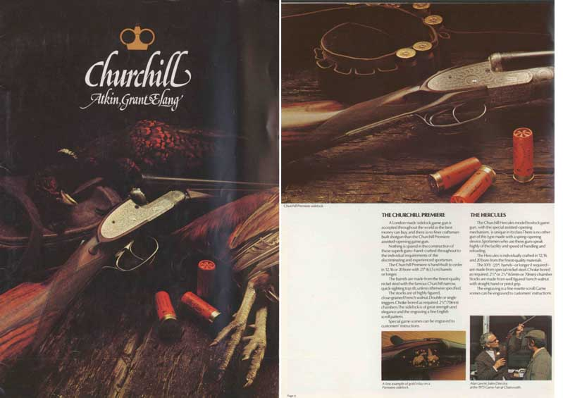 Churchill Atkin, Grant and Lang 1975 Gun Catalog