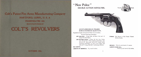 Colt 1903 Firearms Catalog