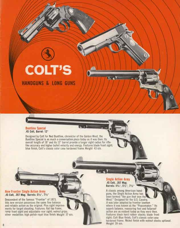 Colt 1970 Rifles, Pistols and Revolvers