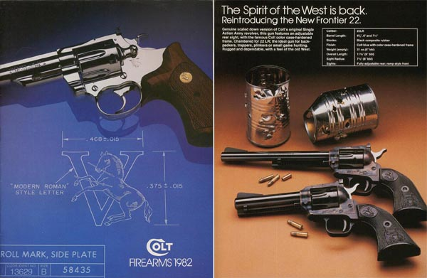 Colt 1982 Firearms Catalog