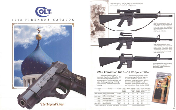 Colt 1992 Firearms Catalog
