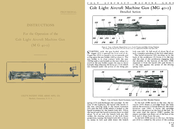 Colt 1941 MG40-2 Light Aircraft Machine Gun Manual