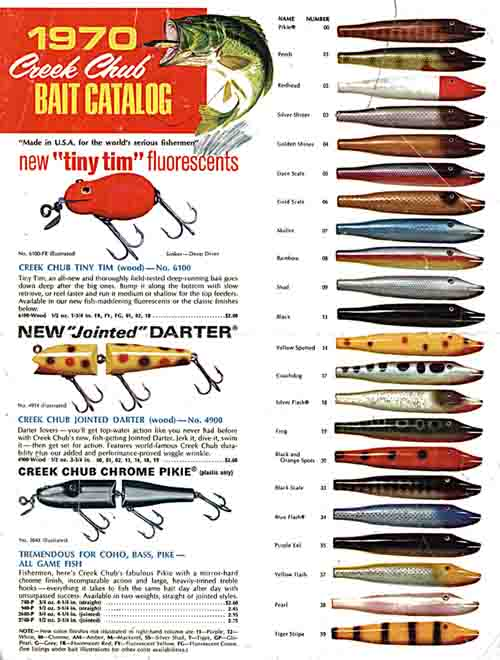 Creek Chub 1970 Bait Flyer