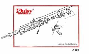cornell publications daisy 1990 part manual rh cornellpubs com Daisy Air Rifles daisy powerline 45 manual