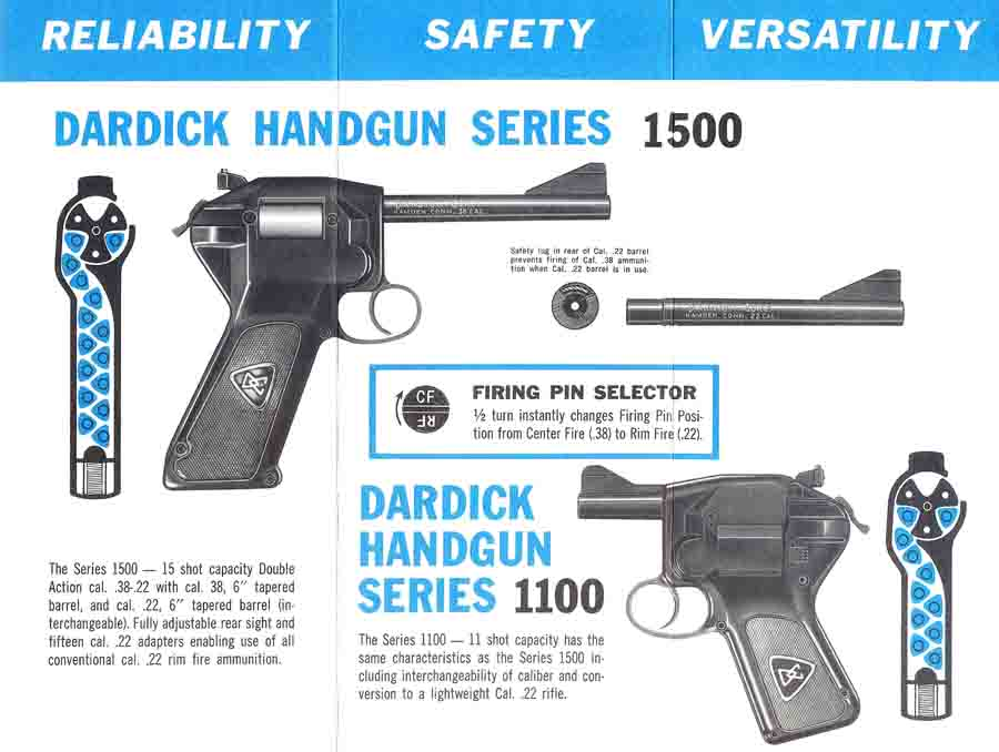 Dardick Magazine-fed Revolver Handgun c1959