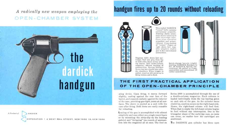 Dardick c1958 Magazine-Fed Revolver Flyer, New York, NY
