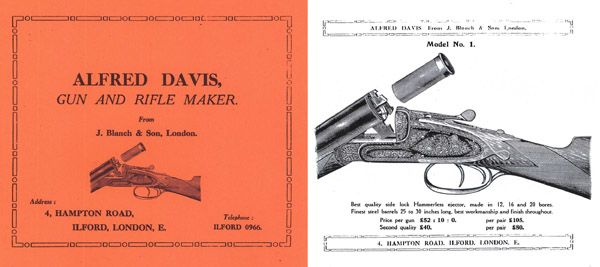 Alfred Davis Gun and Rifle Maker 1925