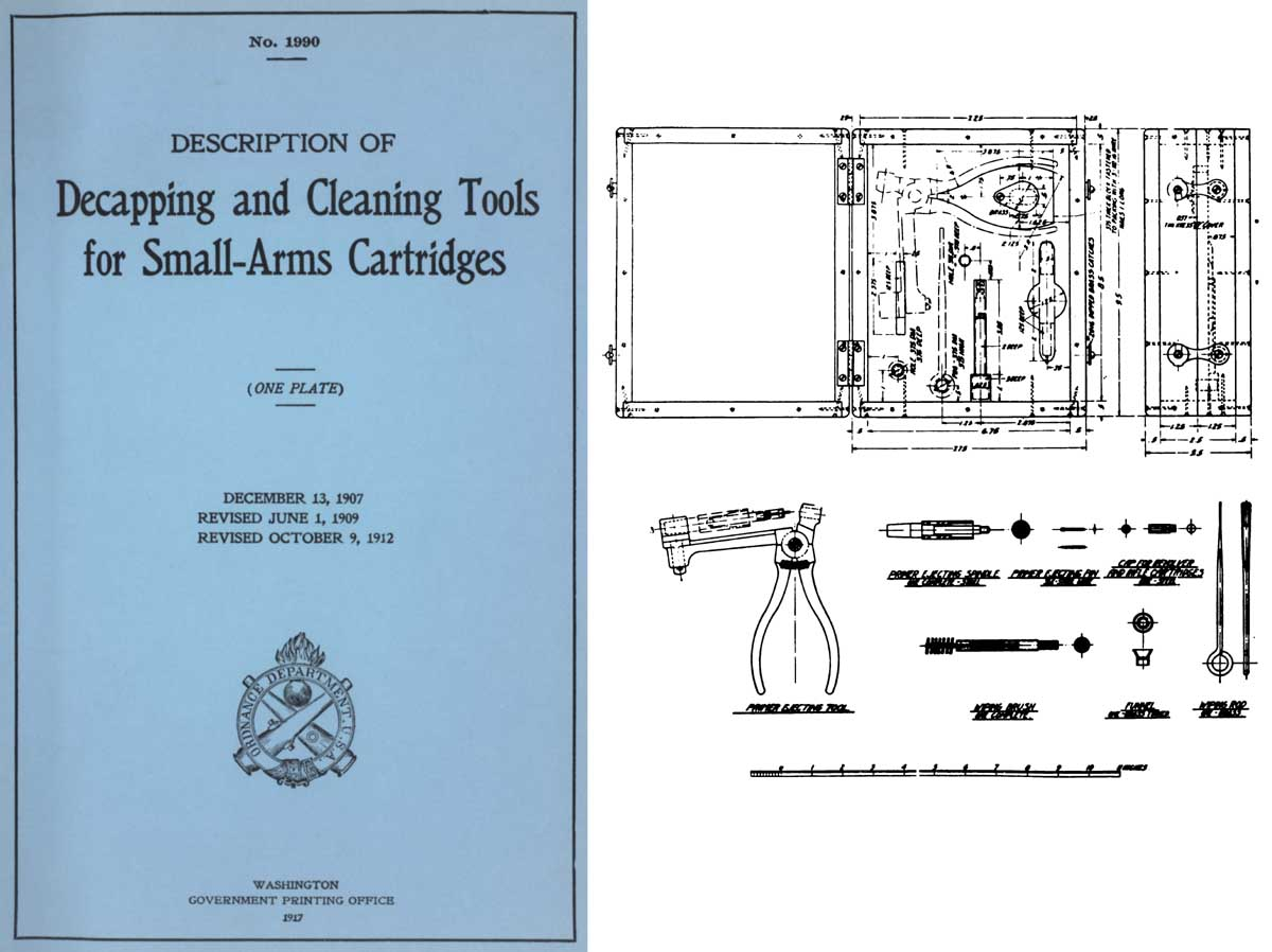 Decapping & Cleaning Tools for Small-Arms Cartridges 1917 GPO- Manual