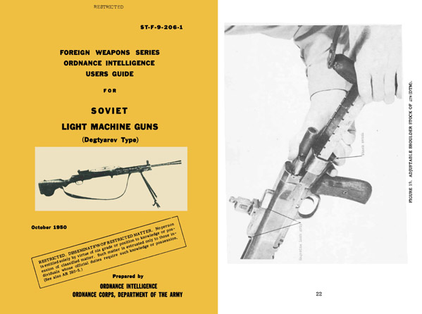Degtyarev 1950 Type Light Machine Guns- User Guide- Manual