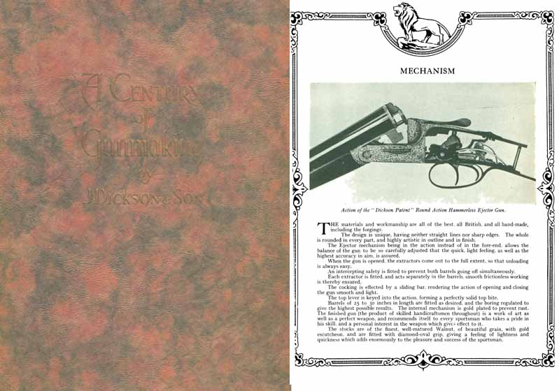 John Dickson and Sons 1929 Gun Catalog