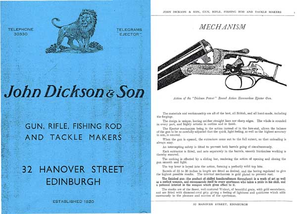 Dickson, John and Son Sporting Goods 1939 - Edinburgh