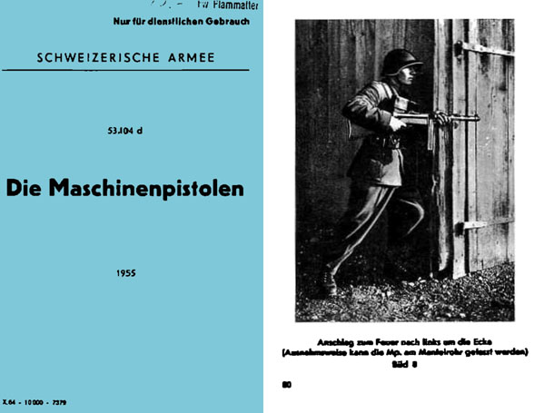 MP43/44 1955 Die Machinenpistolen Manual (Swiss Army)
