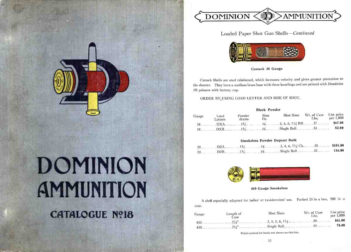 Dominion Ammunition #18 1924 Catalog