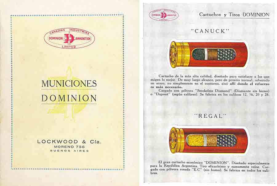 Dominion (CIL- Canada) Ammunition 1930 (Spanish Text)