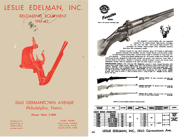 Leslie Edelman Reloading Equipment & Guns, Phila, PA