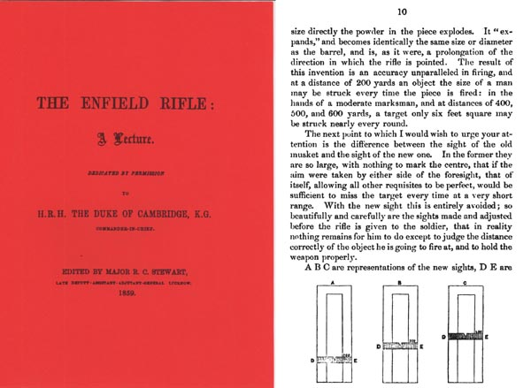 The Enfield Rifle, A Lecture 1858 by Maj. A. Stewart- Manual