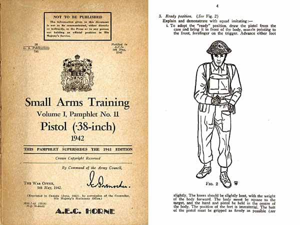 Enfield/Webley .38 Revolver/Pistol 1942 - Canadian Small Arms Training- Manual