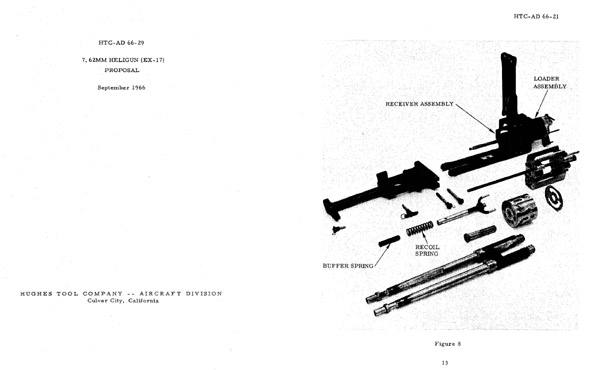 Hughes Aircraft-Heligun EX17 1966 Multibarrel MG Proposal