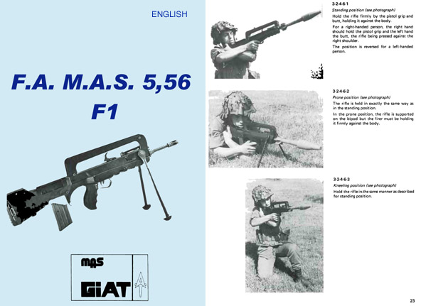 FAMAS GiAT F1 Submachine Gun- English version- Manual