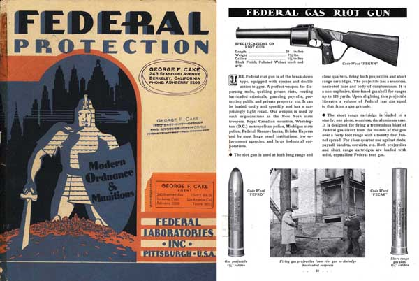 Federal Gas Protection Laboratories 1934