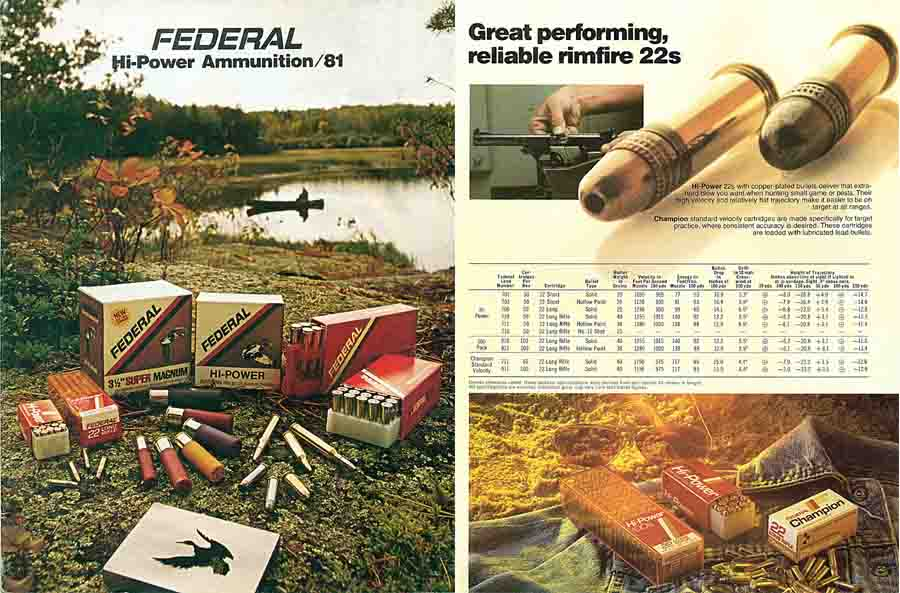 Federal c1975 Ammunition Catalog