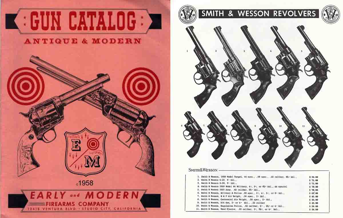 Early and Modern Firearms Co. Catalog 1958 (Studio City, CA)