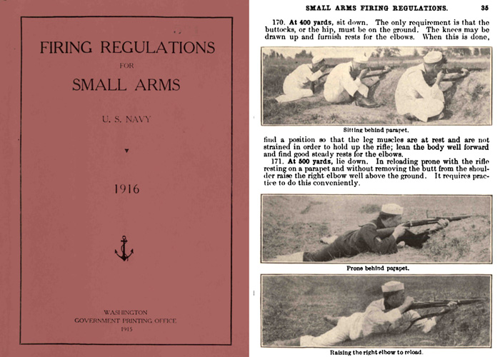 Firing Regulations for Small Arms 1916 US Navy