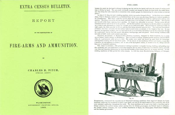 Manufacture of Firearms and Ammunition 1882, Charles H. Fitch