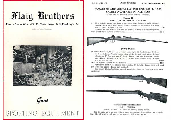 Flaig Brothers 1940 Gun Catalog (Pittsburgh, PA)