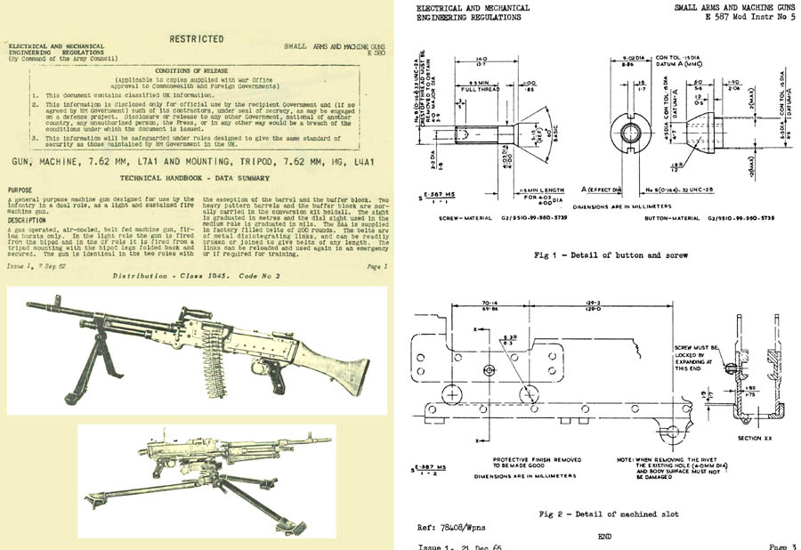 FN 1962 MAG L7A1 Machine Rifle Tech Handbook (UK)