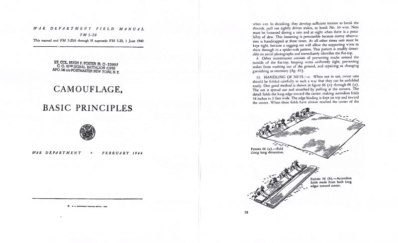 FM 5-20 Camouflage, Basic Principles 1944- Manual