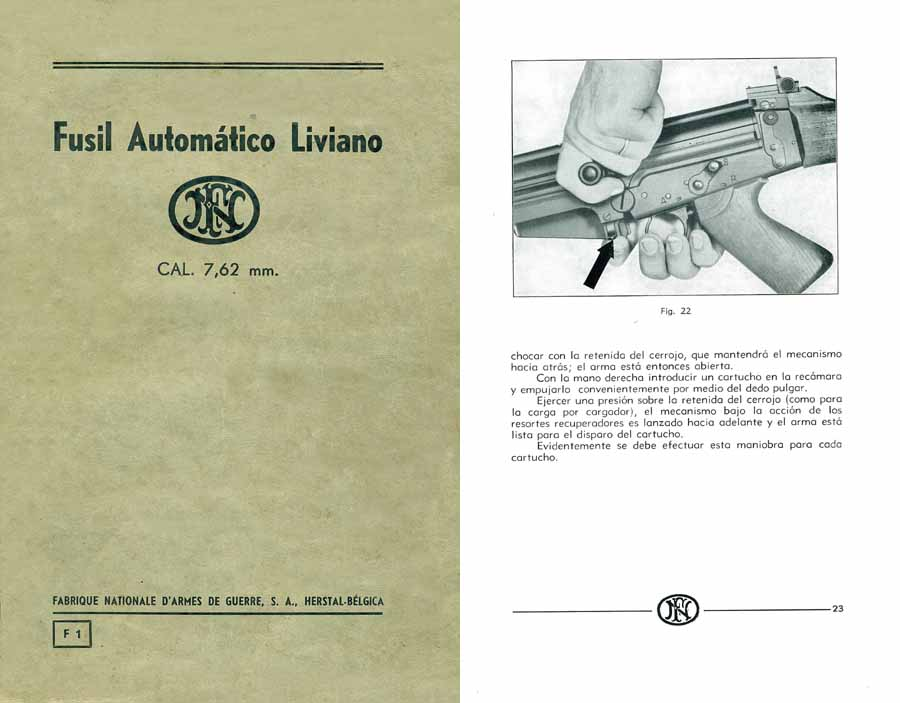 FN 1959- Manual Fusil Automatico Liviano (LM) 7.62 mm