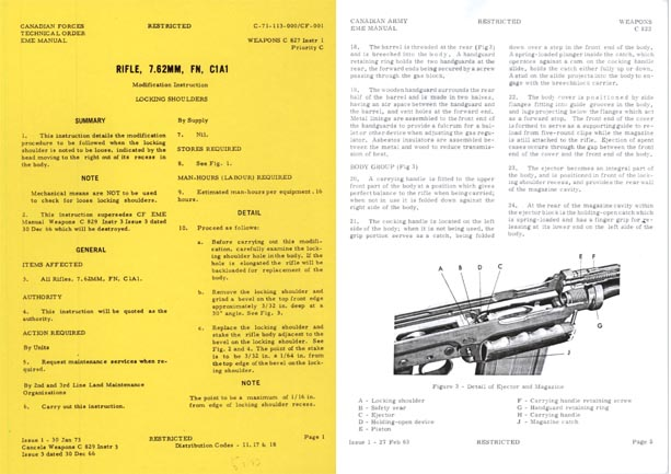 FN 7.62 SLR C1A1 Canadian Services Rifle Manual